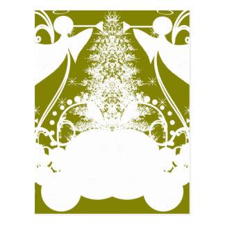 Ángeles en verde tarjetas postales