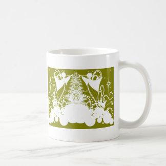 Ángeles en verde tazas de café