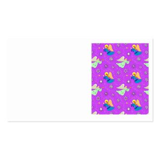 Ángeles en violeta - copos de nieve y trompetas tarjeta de visita