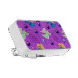 Ángeles en violeta - ornamentos y trompetas notebook altavoz