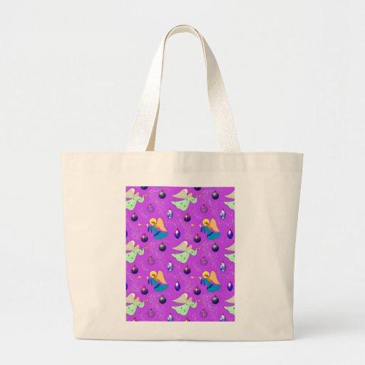 Ángeles en violeta - ornamentos y trompetas bolsa de mano
