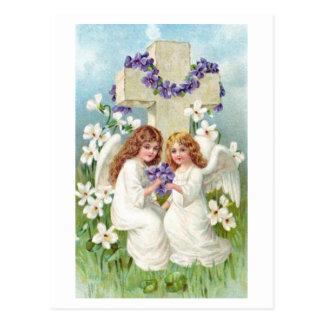 Ángeles lindos del vintage tarjetas postales