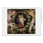 Ángeles, Madonna y niño, Peter Paul Rubens Tarjetón