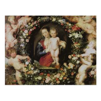 Ángeles, Madonna y niño, Peter Paul Rubens Postales