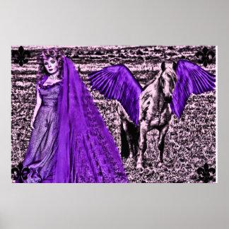 ángeles Pegaso del lil Poster