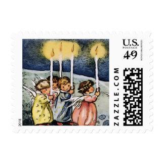 Ángeles preciosos timbres postales