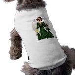 Ángeles que cantan los villancicos (verde) camisa de perrito