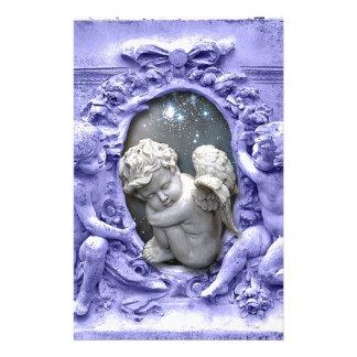 Ángeles que guardan la querube, arte original papelería