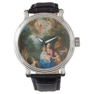 Ángeles que ofrecen los regalos reloj de mano