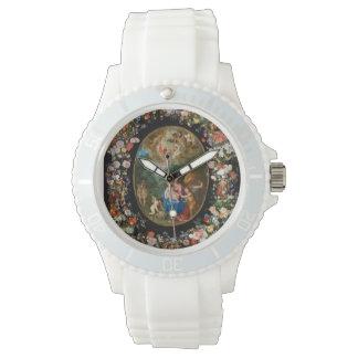 Ángeles que ofrecen los regalos relojes de mano