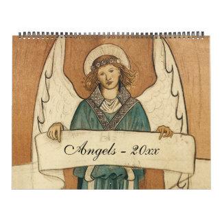 Ángeles religiosos del ejemplo del vintage, calendarios de pared