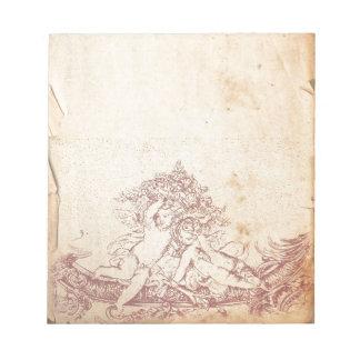 Ángeles rosados del vintage blocs de papel