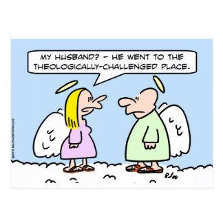 ángeles teológico desafiados postales