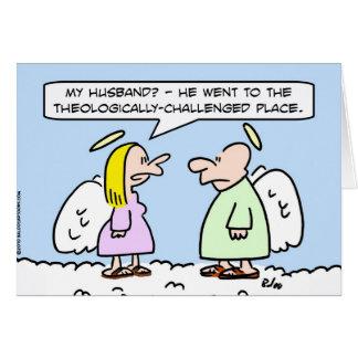 ángeles teológico desafiados tarjeta de felicitación