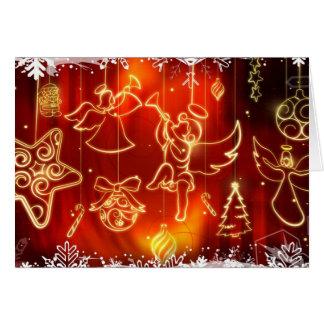 Ángeles y ornamentos del navidad tarjeta de felicitación