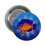 Angelfish 1 del dibujo animado pin redondo 5 cm