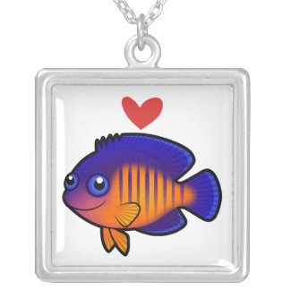 Angelfish 1 Love Silver Plated Necklace