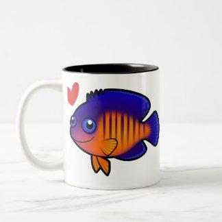 Angelfish 1 Love Two-Tone Coffee Mug