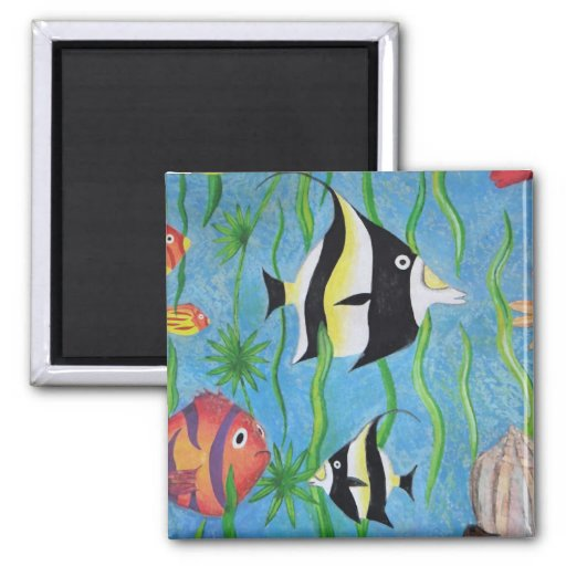 angelfish 2 inch square magnet