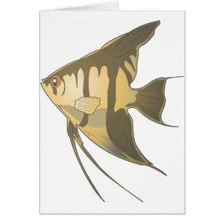 Angelfish 2 tarjeta de felicitación