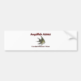 Angelfish Addict Car Bumper Sticker