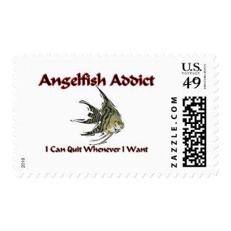 Angelfish Addict Postage Stamps