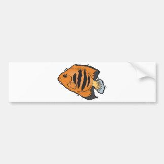 angelfish anaranjado y negro pegatina de parachoque