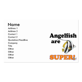 angelfish are super business card templates