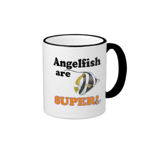 angelfish are super ringer coffee mug