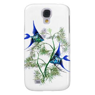 Angelfish azul en plantas funda para galaxy s4