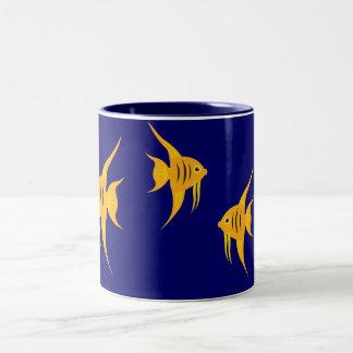 AngelFish_Blue Lagoon Two-Tone Coffee Mug