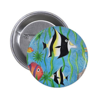 angelfish pinback buttons