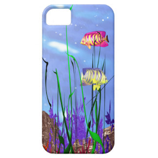 Angelfish colorido 3d iPhone 5 Case-Mate protectores