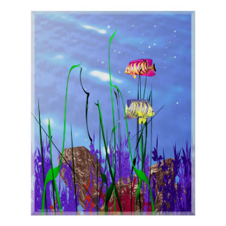 Angelfish colorido 3d impresiones
