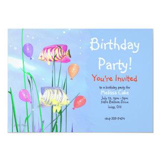 """Angelfish de la fiesta de cumpleaños de los niños invitación 5"""" x 7"""""""