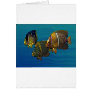 Angelfish de la natación tarjeta de felicitación