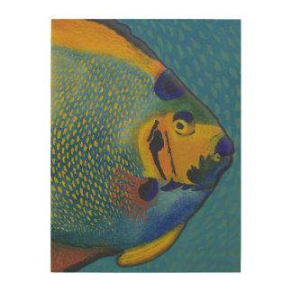 Angelfish de la reina (18X24) Cuadros De Madera