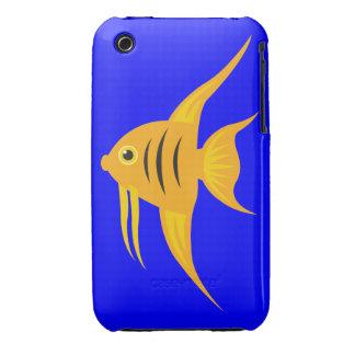AngelFish en el mar azul profundo iPhone 3 Case-Mate Carcasas