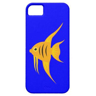 AngelFish en el mar azul profundo iPhone 5 Carcasas