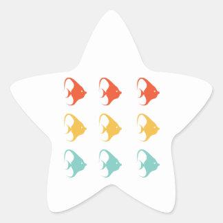 Angelfish Fish Cichlids Pterophyllum Ocean Animal Star Sticker