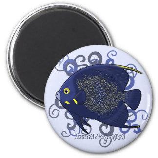 Angelfish francés imán redondo 5 cm