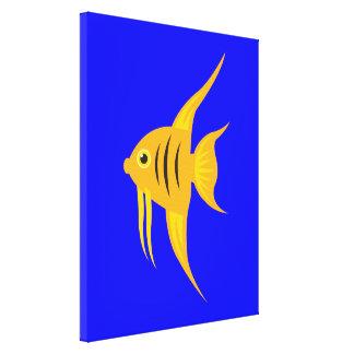AngelFish in the deep blue sea Canvas Print
