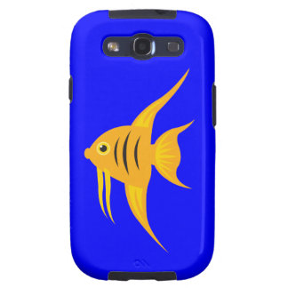 AngelFish in the deep blue sea Samsung Galaxy S3 Covers