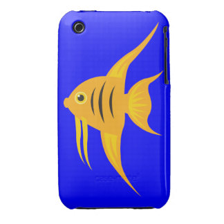 AngelFish in the deep blue sea iPhone 3 Cases