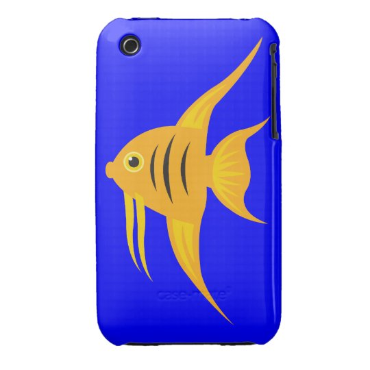 AngelFish in the deep blue sea iPhone 3 Cover