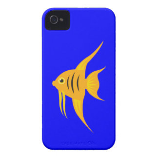 AngelFish in the deep blue sea iPhone 4 Case