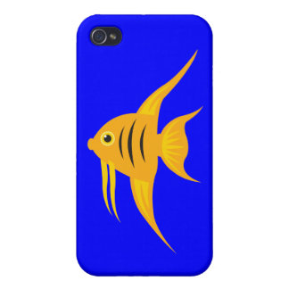 AngelFish in the deep blue sea iPhone 4/4S Cases