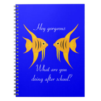 AngelFish in the deep blue sea Note Book