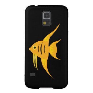 AngelFish in the deep blue sea_on black Case For Galaxy S5
