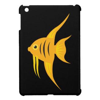 AngelFish in the deep blue sea_on black iPad Mini Case